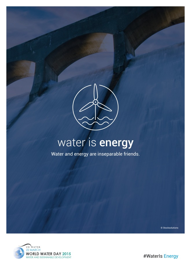 The Water-Energy Nexus has been a hot topic in the water community this year - but how can this concept be turned to action? Poster courtesy UN Water Program