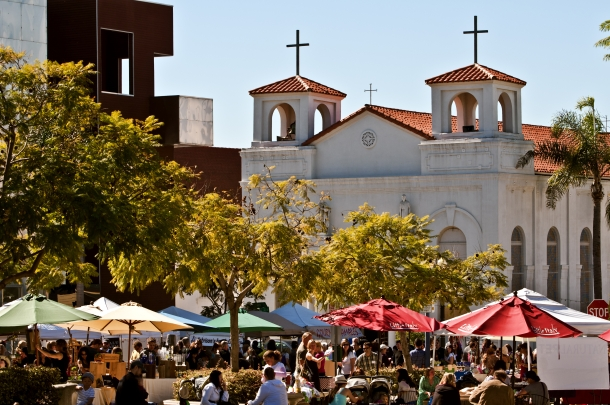 Catholics are one of the fastest-growing religious affiliations in North America. © Adeliepenguin | Dreamstime.com - Farmers Market, Little Italy, San Diego Photo