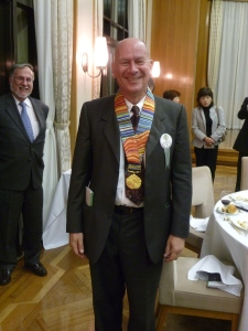 Ausubel wears the ribbon of the International Cosmos Prize, which he shared with other leaders of the Census of Marine Life program. Photo courtesy Jesse Ausubel